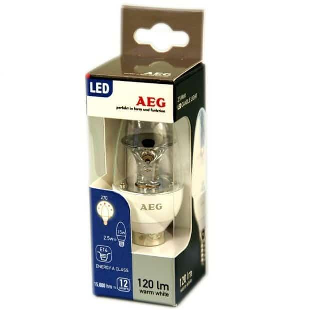 Λάμπα Led AEG E14 2.5W 3000K