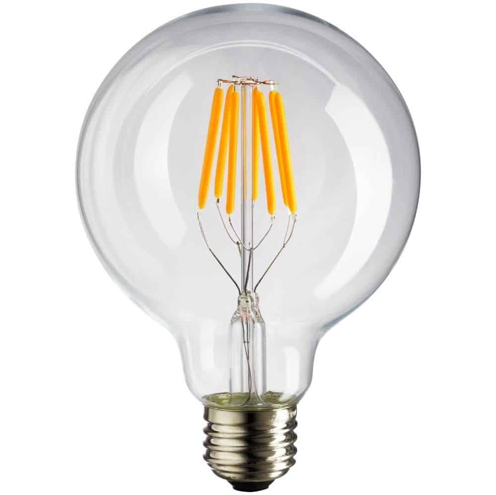 Λάμπα Led filament φούσκα G125 E27 8W