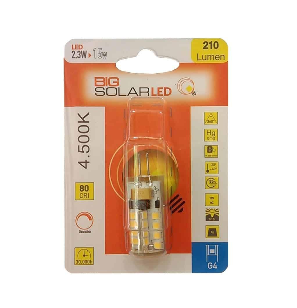 Λάμπα Led G4 12V 2.3W BIG SOLAR LED