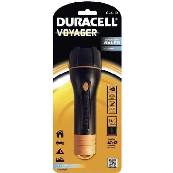 Φακός Duracell Voyager 5 Led Αδιάβροχος Μαύρος CLX-10 / 20 Lumens/Απόσταση 60m