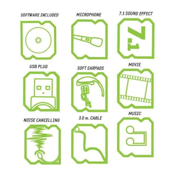 Ακουστικό HX9CT BUDDLE w/Tshirt Gaming KEEP OUT USB 7.1