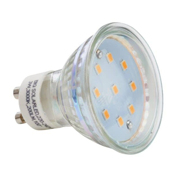Λάμπα Led spot gu10 3W 4000k Big Led