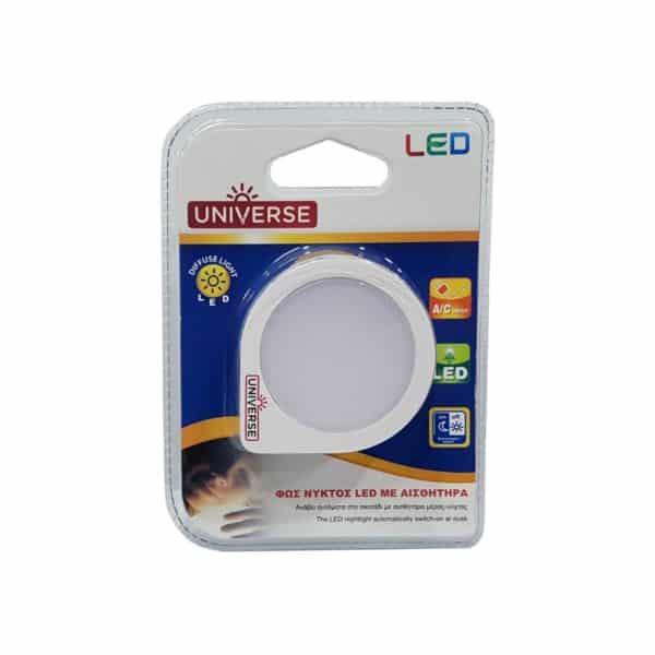 Φωτάκι νυκτός led 0.06w με αισθητήρα FG-02022 UNIVERSE