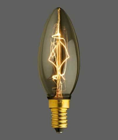 Λάμπα διακοσμητική Edison κερί 40w C35-E14-40 UNIVERSE