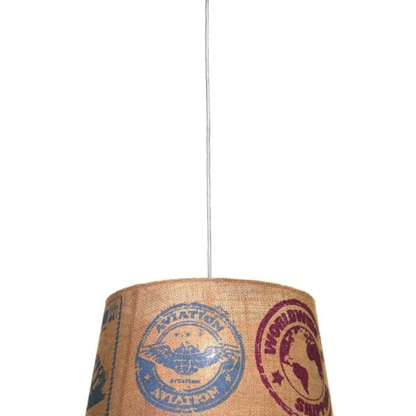 Φωτιστικό κρεμαστό με καπέλο από λινάτσα 5866 Perenz ILLUMINA