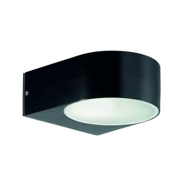 Φωτιστικό απλίκα οβάλ εξωτερικού χώρου μαύρο χρώμα 018539 Iko Ideal Lux