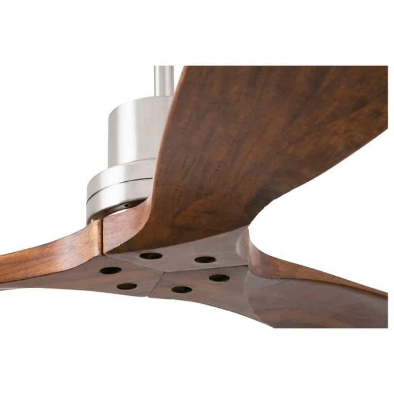 Ανεμιστήρας οροφής με λεπίδες από ξύλο σε σκούρο καφέ 7142CR Perenz