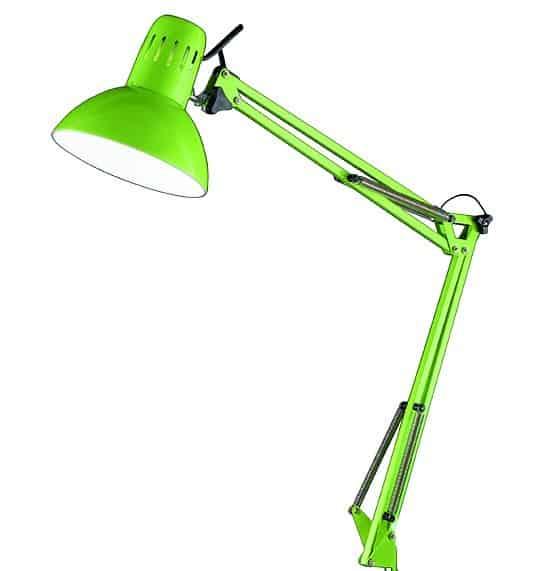 Φωτιστικό σχεδιαστηρίου πράσινο με μέγγενη 4025 Perenz