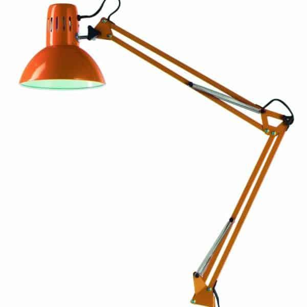 Φωτιστικό σχεδιαστηρίου πορτοκαλί με μέγγενη 4025 Perenz
