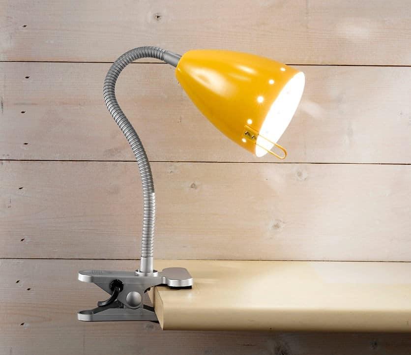 Φωτιστικό με μανταλάκι κίτρινο 4512G Perenz