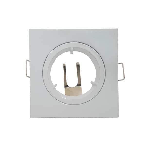 Σποτ τετράγωνο σταθερό λευκό για λάμπα GU10 ή MR16 MF070078 IMA