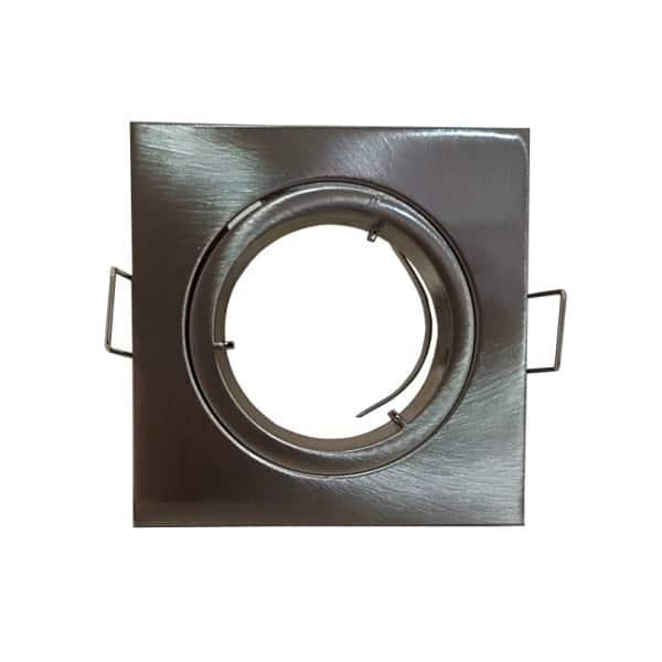 Σποτ τετράγωνο σταθερό inox για λάμπα GU10 ή MR16 MF070118 IMA