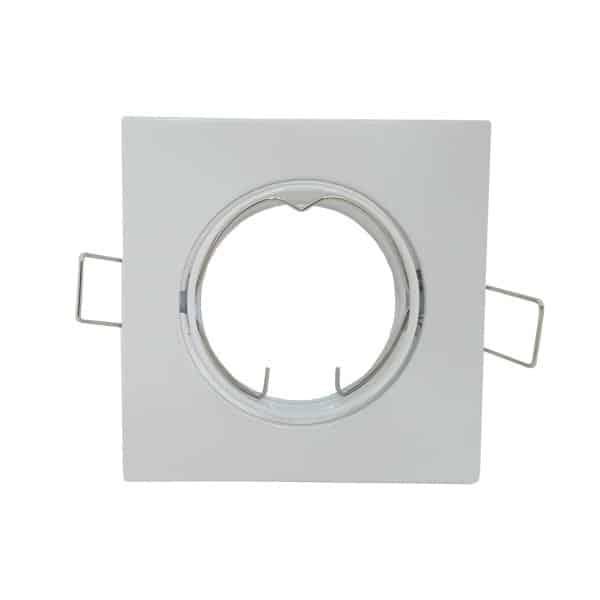 Σποτ τετράγωνο κινητό λευκό για λάμπα GU10 ή MR16 MF070118 IMA