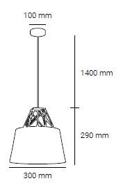 Φωτιστικό κρεμαστό Dionysus ροζ SP1 00439 SOLLO