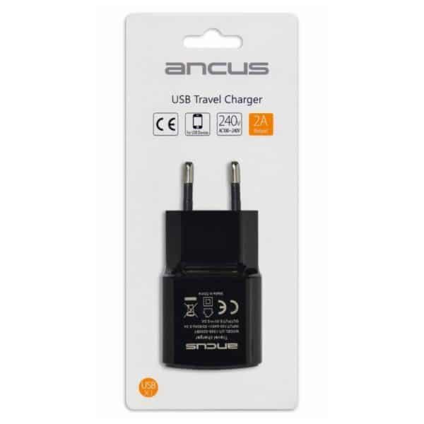 Φορτιστής Ταξιδίου Ancus Usb 2000 mAh Switching 5V μαύρος 5210029054709