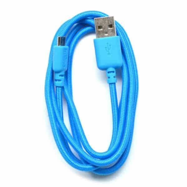 Καλώδιο σύνδεσης κορδόνι Ancus USB σε Micro USB με ενισχυμένες επαφές μπλε 5210029008726