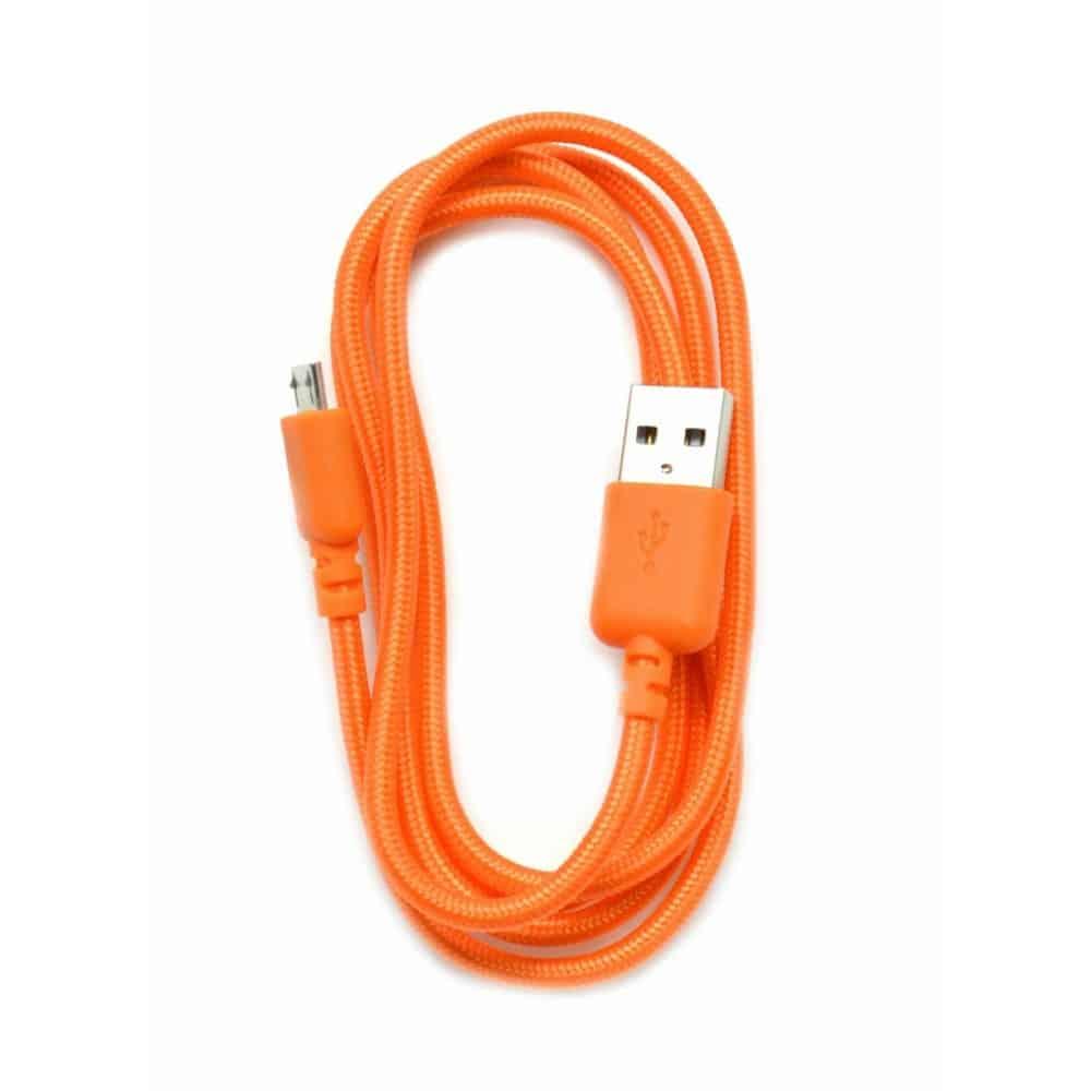 Καλώδιο σύνδεσης κορδόνι Ancus USB σε Micro USB με ενισχυμένες επαφές πορτοκαλί 5210029008719