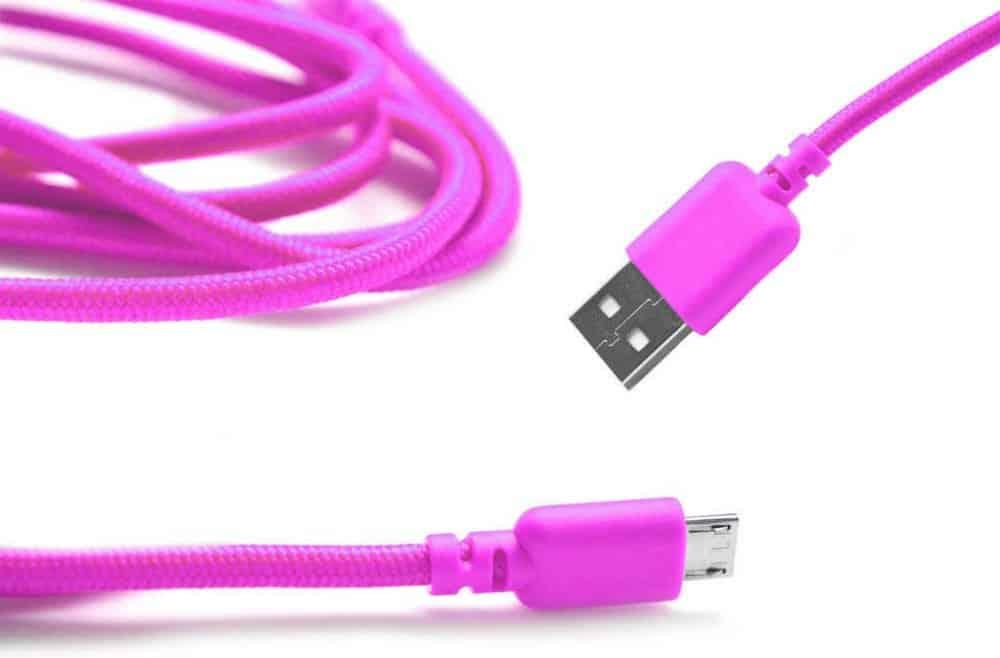 Καλώδιο σύνδεσης κορδόνι Ancus USB σε Micro USB με ενισχυμένες επαφές ροζ 5210029008696