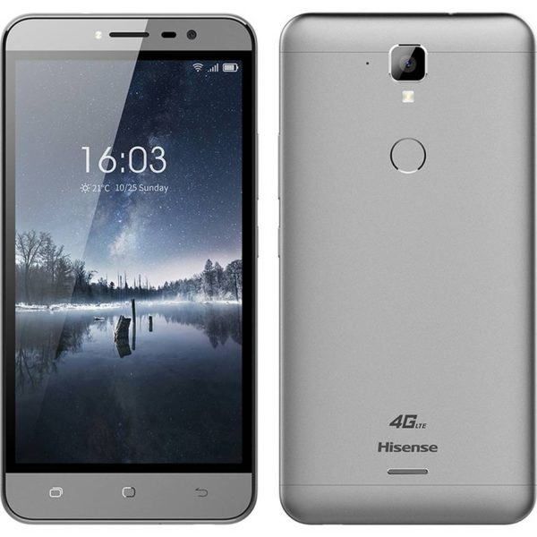 "Hisense F23 4G LTE (Dual SIM) 5.5"" Android 7.0 1280*720 HD Quad-Core 64bit 1.3 GHz 2GB RAM 16GB Γκρί"