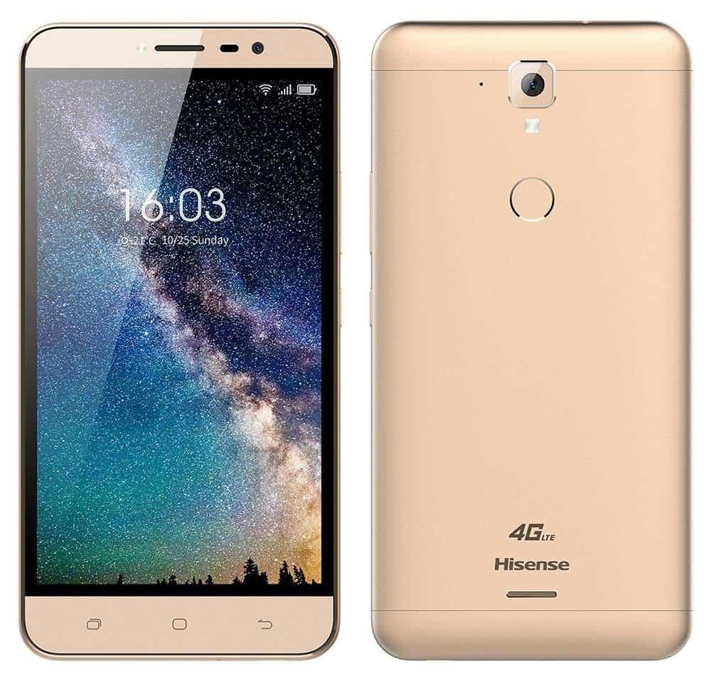"Hisense F23 4G LTE (Dual SIM) 5.5"" Android 7.0 1280*720 HD Quad-Core 64bit 1.3 GHz 2GB RAM 16GB Χρυσαφί"