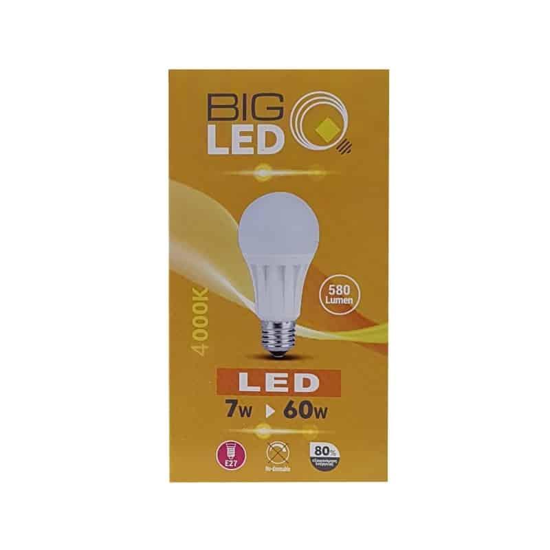 Λάμπα led E27 7w 4000k BIG SOLAR 0635/02483