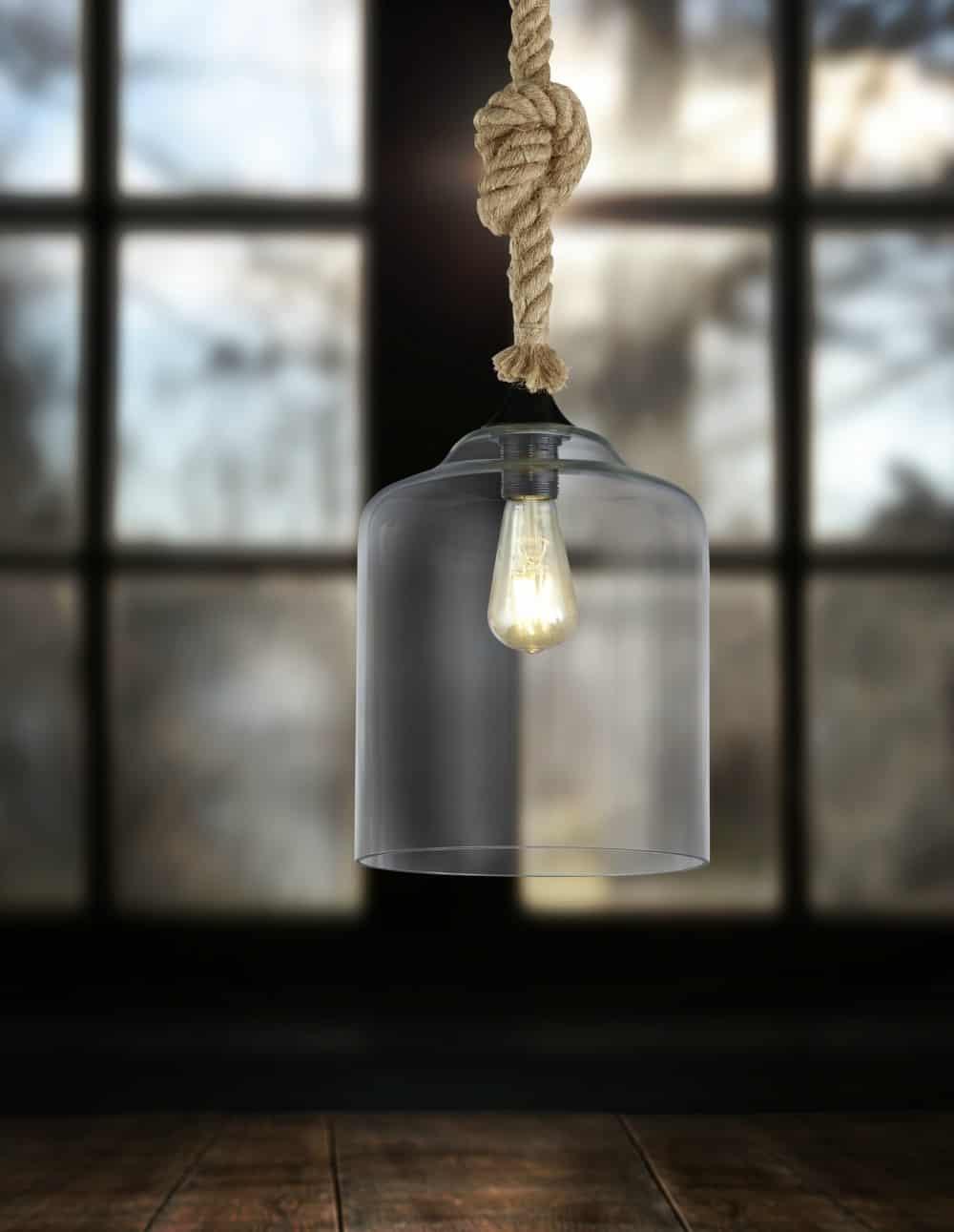 Φωτιστικό κρεμαστό με σχοινί Judith 302900102 TRIO LIGHTING
