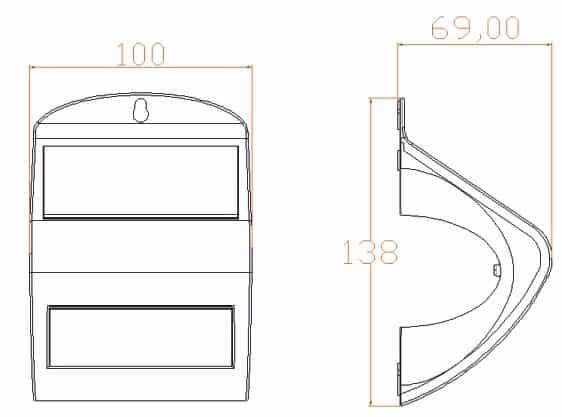 Ηλιακό φωτιστικό 2w με ανιχνευτή κίνησης (τύπου ραντάρ) 13-0032