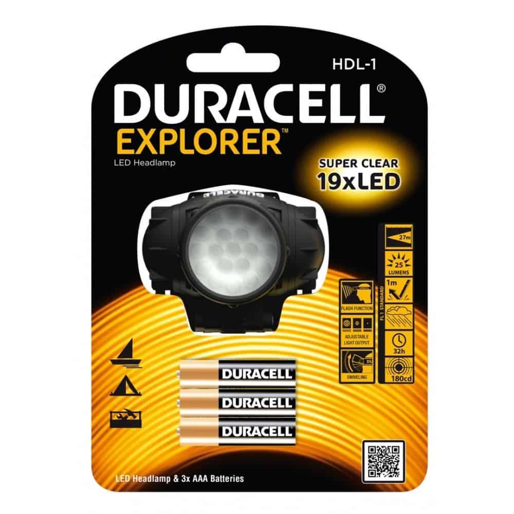 Φακός κεφαλής EXPLORER HDL-1 DURACELL