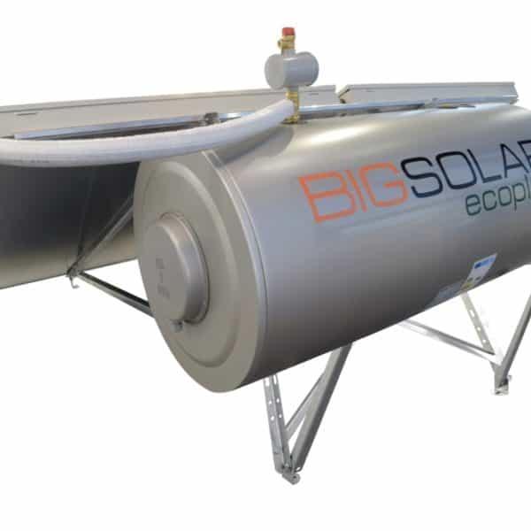 Ηλιακός θερμοσίφωνας διπλής ενέργειας επιλεκτικός BS eco plus 200lt/4m² glass BIG SOLAR