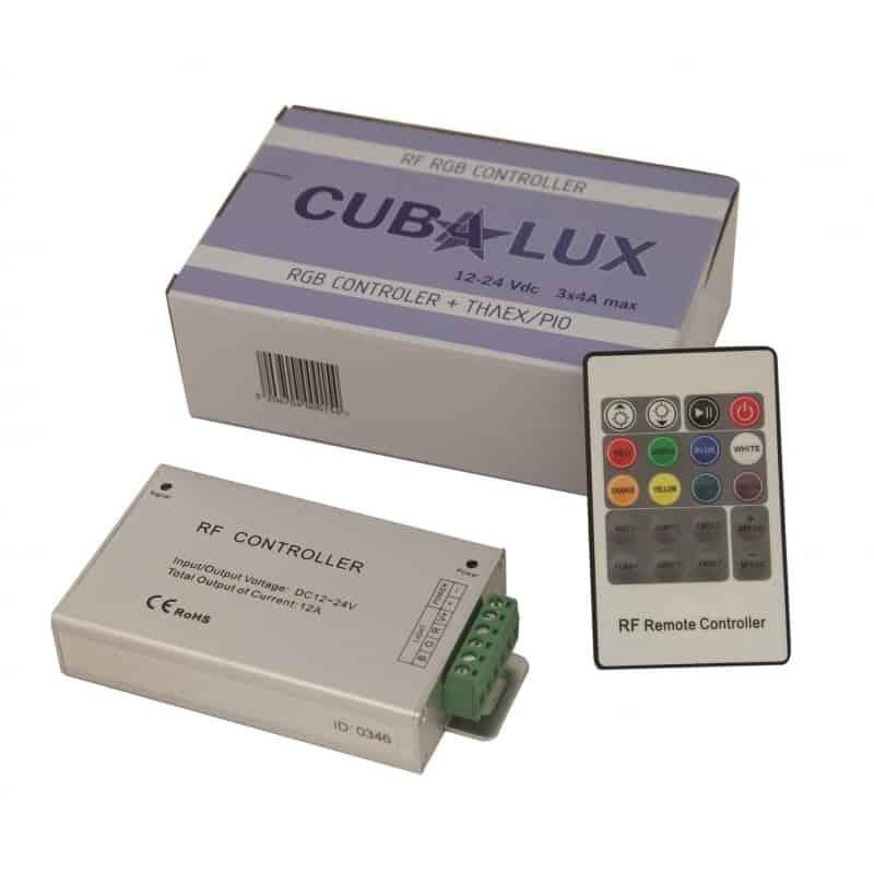 Controller RF για ταινία led RGB με χειριστήριο 13-0363 CUBALUX