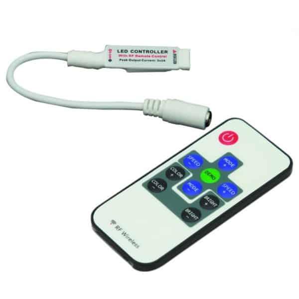 Mini Controller για ταινία led RGB με χειριστήριο 13-0556 CUBALUX