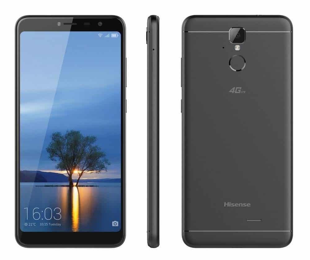 """Κινητό τηλέφωνο Hisense F24 infinity 4G LTE (Dual SIM) 5.99"""" Quad-Core 64bit 1.5 GHz 2GB/16GB μαύρο"""