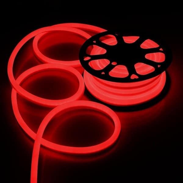 ταινία led neon flex μέ κόκκινο φωτισμό