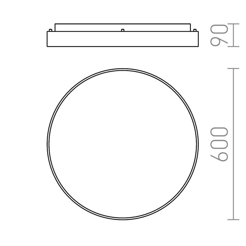 διαστάσεις φωτιστικό κρεμαστό mensa r 60
