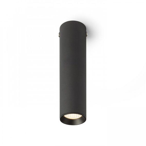 φωτιστικό μαύρο σε σωληνωτό σχήμα led RIGA 18