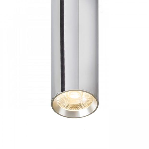 φωτιστικό οροφής RIGA 38 χρωμέ γυαλιστερό με ενσωματωμένο led