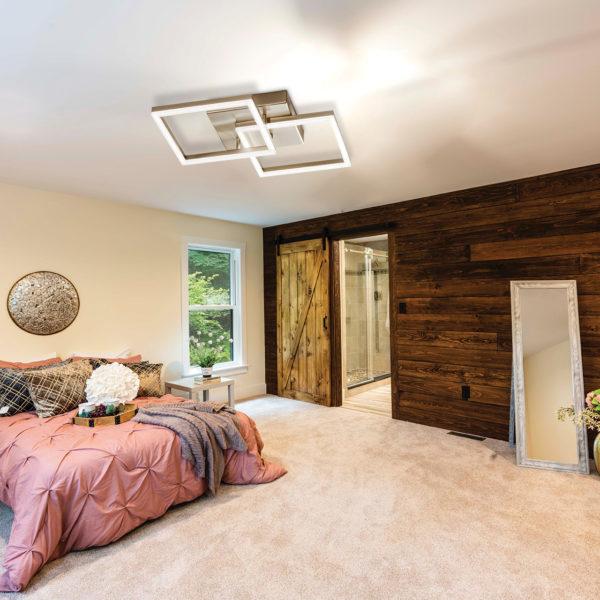 υπέροχο φωτιστικό οροφής με δύο τετράγωνα πλαίσια ιδανικό για την κρεβατοκάμαρα και όχι μόνο BARD 3394-22-225
