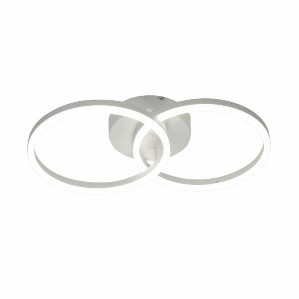 φωτιστικό με δυο κυκλικά πλαίσια σε χρώμα λευκό GIOTT FABAS LUCE