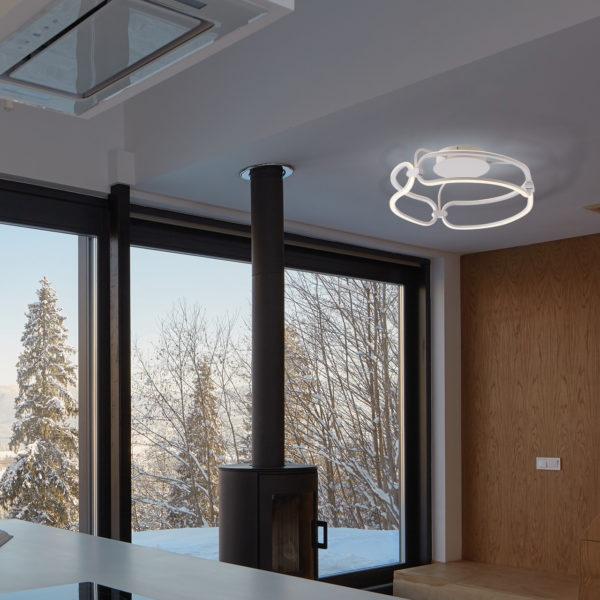 όμορφο οικιακό φωτιστικό οροφής LED-INFINITY-PL45 8031414868834 LUCE AMBIENTE
