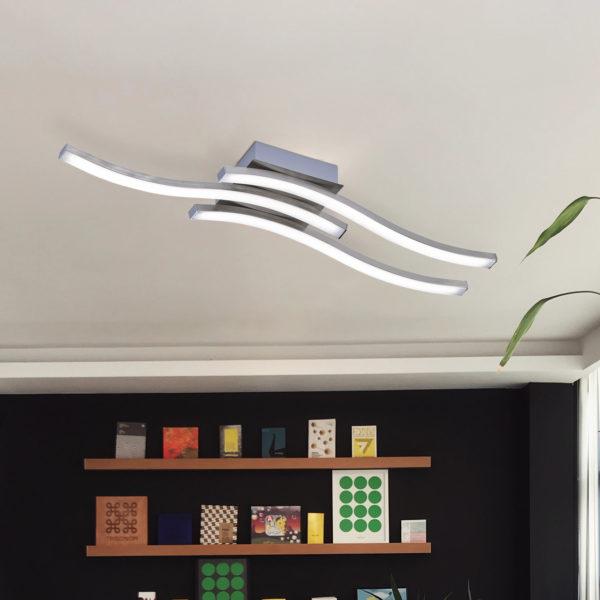 φωτιστικό οροφής led για όλους τους χώρους του σπιτιού ROUTE R62473107 RL