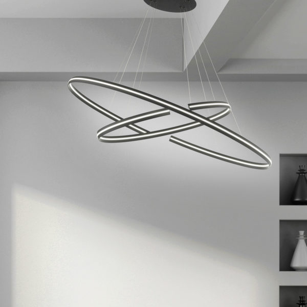 εντυπωσιακό φωτιστικό οροφής SO.ICS/NERO-GR ONDALUCE