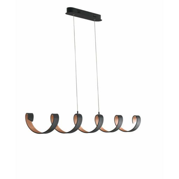 ελικοειδές φωτιστικό κρεμαστό LED-HELIX-S6-NER LUCE AMBIENTE