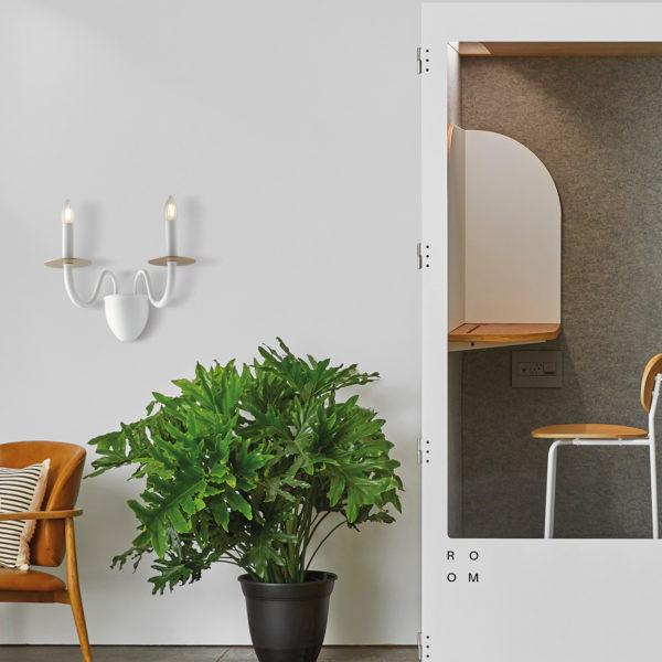 απλίκα τοίχου σε κλασικό σχέδιο I-ARMSTRONG/AP2 BCO LUCE AMBIENTE