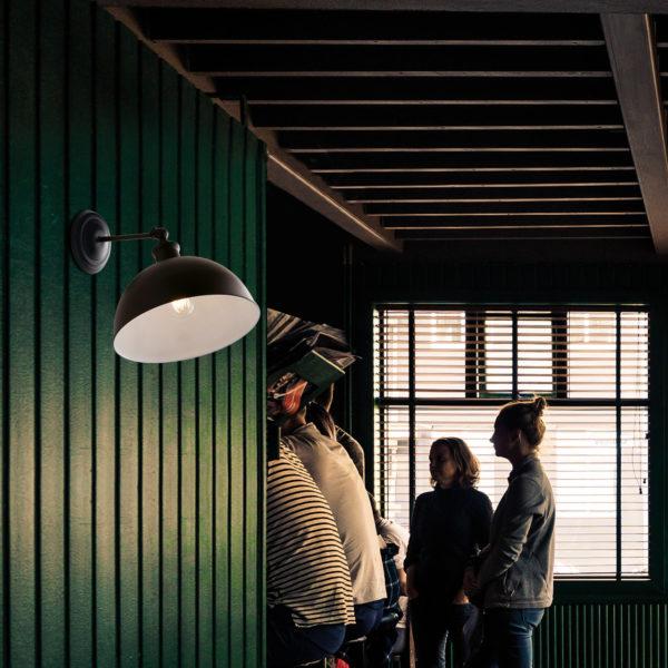 industrial φωτιστικό με μεταλλικό καπέλο charleston luce ambiente