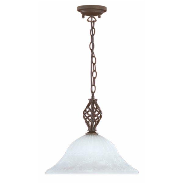 φωτιστικό με μεταλλική αλυσίδα και γυάλινο καπέλο RUSTICA TRIO LIGHTING