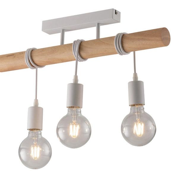 φωτιστικό οροφής μέταλλο ξύλο arizona luce ambiente
